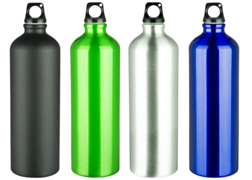 Aluminum bottles? They release metals into the water ...