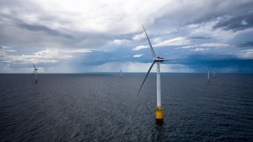 Scotland's first floating wind farm
